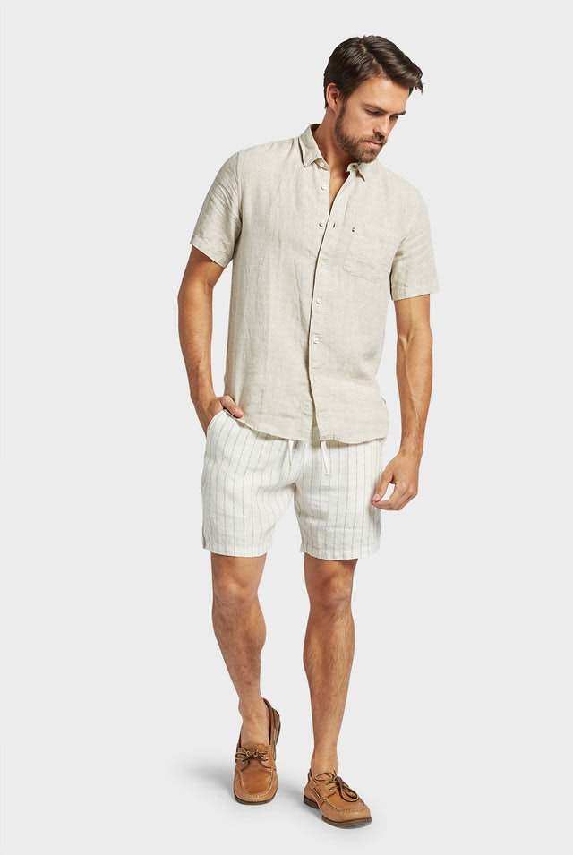 Product image for                                                     Hampton Linen S/S Shirt